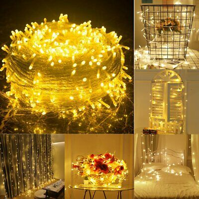 100M 500LED Fairy Indoor Outdoor Christmas String Strip Lights Party Warm White