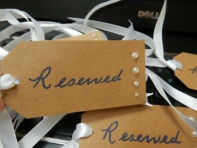Reserve Those Important Chairs At The Wedding Service   6 Labels Hand Made