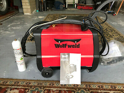 Wolf Mig Welder. Portable, Used only once. Includes Usre Manual and some spares.