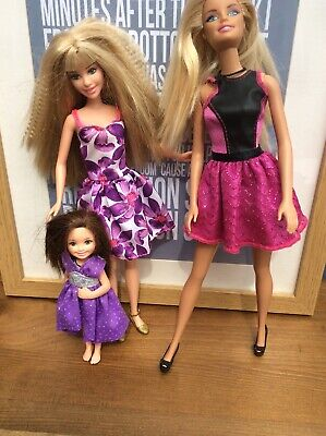 Set Of Barbie And Her Sisters ? Skipper ? Kelly ? Chelsea. Dresses And Shoes