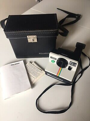 Polaroid 1000 Land Camera With Original Case and Instructions Vintage 1970s