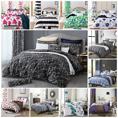 Single Double King Duvet Cover and Pillow Case Quilt Cover Bedding Set All Sizes