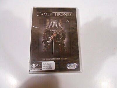 Game Of Thrones-The Complete First Season-5 Dvd Set-New/Sealed-Australia