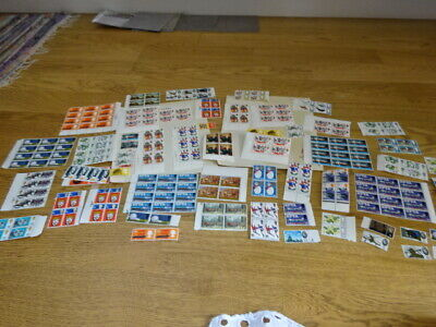 225x large collection GB Stamps 1960s Mint unused part sheets  1/9 1/6