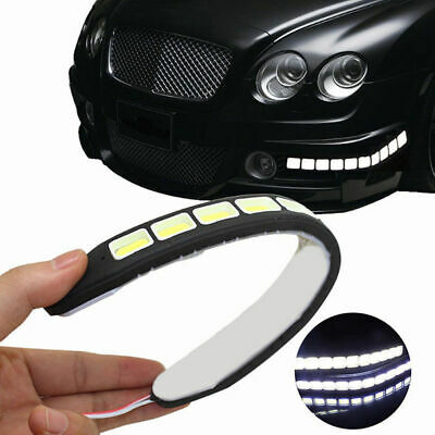 2pcs 12V Waterproof Daytime Running Light LED 20W DRL COB Strip Lamp Fog Car