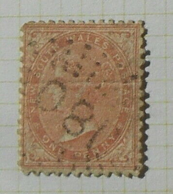 """New South Wales - 1865 - SG196 - 1d """"180"""" postmark"""