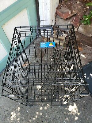 Black Pet Folding Cage Kennel with ABS Tray LC 24 inch