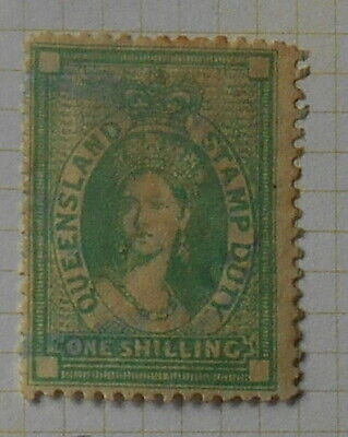 Queensland - 1871 - SG.F27 - 1s Fiscal