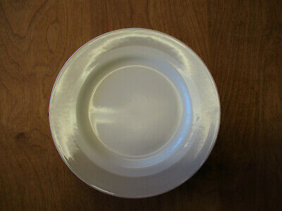 """MSE Martha Stewart CLASSIC BAND GREY Salad Plate 9 1/4""""    4 available"""