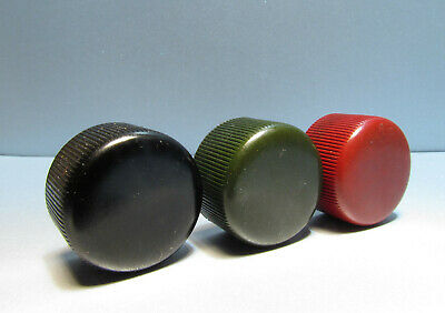 Vintage Knobs for Radio Phono Ham Audio Guitar Amplifier Lot of 3