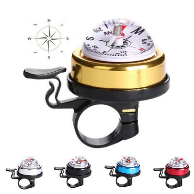 Bicycle Bike Invisible Bell Aluminum Loud Sound Compass Handlebar Safety HorBLBD