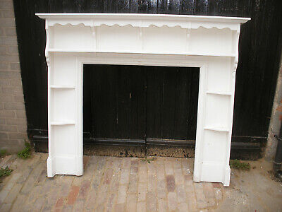 Reclaimed solid pine fireplace surround