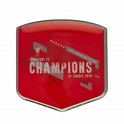 Liverpool FC Champions of Europe 2019 metal pin badge -officially licensed (bst)