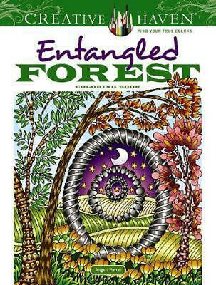 Creative Haven Entangled Forest Coloring Book by Angela Porter Paperback Book Fr