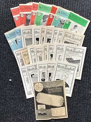 """Lot of 31 Vintage Issues """"The WORKBASKET"""" Magazine"""