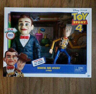 DISNEY PIXAR TOY STORY 4 BENSON AND WOODY POSEABLE DOLL  Try Me New!!!!