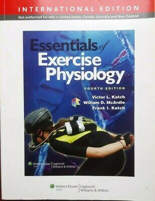 Essentials of Exercise Physiology by William D. McArdle, Excellent FREE UK POST