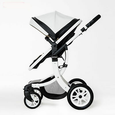 Baby Stroller Foldable Jogger Carriage Infant Travel System Pushchair white