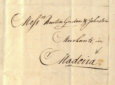 GB LETTER Cover London Portugal MADEIRA 1807 {samwells-covers} MS3847