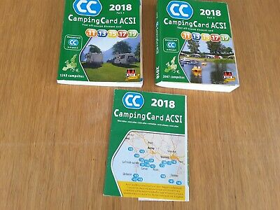 CampingCard 2018 GPS 20 countries - set of two books, ACSI Publishing BV, Used;