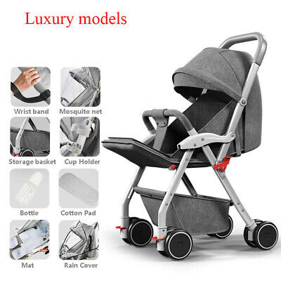 Hot! Foldable Lightweight Baby Stroller Kid Travel Pushchair High Landscape Pram