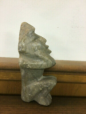 Pre-Colombian Stone Effigy of a Seated Figure