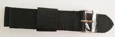 Condor Military Watch Strap Canvas Style 18mm & 20mm Extra Long Khaki or Black