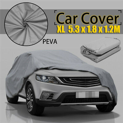 Full Car Cover Rain UV Protection Outdoor Breathable Waterproof Universal XL
