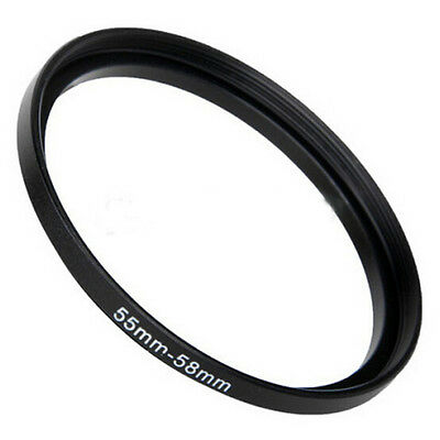 Best 55mm-58mm  55 to 58 Metal Step Up Lens Filter Ring Adapter Black New