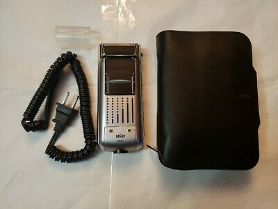 Braun 6520 Electric Shaver Kit w Charger and leather Case and brush. Braun 6520