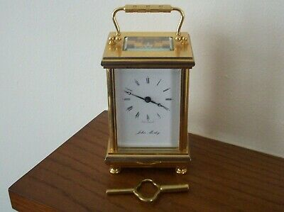 Lovely 20Th Century Heavy Brass Carriage Clock 8 Day By John Morley Working