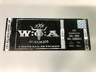 Wacken Open Air 2019 3day All In  - 1 Day Shipping TNT
