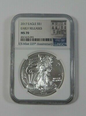 2017 Silver American Eagle NGC MS70 EARLY RELEASE US MINT 225th Anniversary