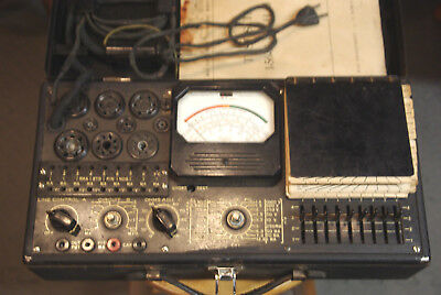 Vintage Triplett Combination Vacuum Tube Tester / VOM  for Restoration