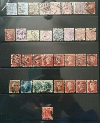 Page Of Queen Victoria Line Engraved /Surface Printed Stamps Used Joblot (6)