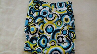 New Cloth Pocket Diaper Nappy Microfiber Insert Wacky Blue Yellow