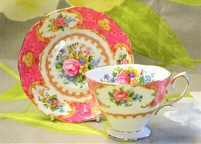 Royal Albert Lady Carlyle Duo 1944 England Avon Widemouth Cup Saucer