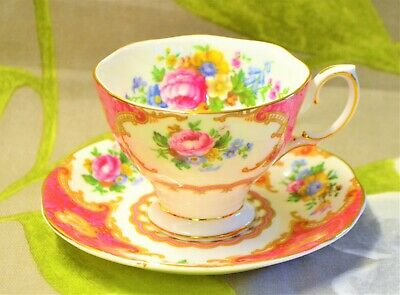 Small Coffee Cup Saucer Royal Albert Lady Carlyle  England Avon Widemouth