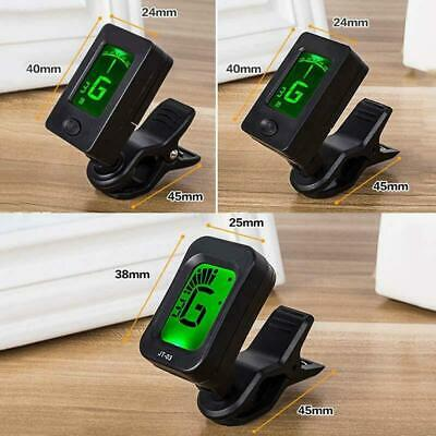 Portable Digital Chromatic LCD Clip-On Electric Tuner for Bass Guitar Ukulele