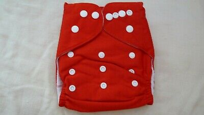 New Cloth Pocket Diaper Nappy Microfiber Insert Solid Red