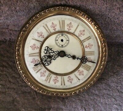 An Eight Inch Double Weight Vienna Movement For Spares Or Repairs