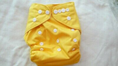 New Cloth Pocket Diaper Nappy Microfiber Insert Solid yellow