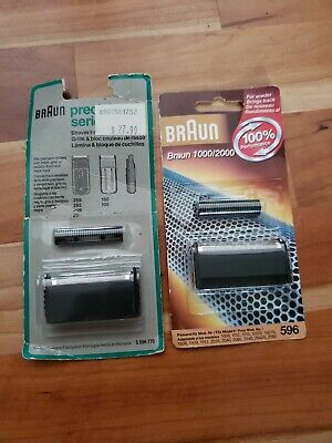 Braun Shaver 1000/2000 596 Foil And Cutter Set~New In Package