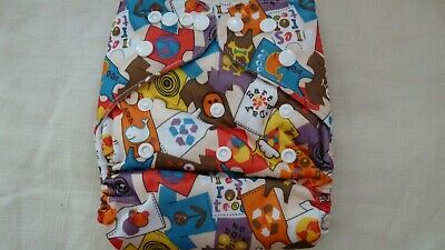 New Cloth Pocket Diaper Nappy Microfiber Insert Peace Love Earth Day