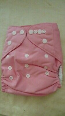 New Cloth Pocket Diaper Nappy Microfiber Insert Solid Light Pink