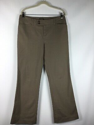 Eddie Bauer Dress pants Womens Vashon Fit  khaki Tan Cotton size 10