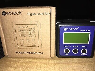 Neoteck Digital Angle Finder, Backlight LCD Digital Angle Gauge Protractor Bevel