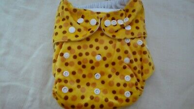 New Cloth Pocket Diaper Nappy Microfiber Insert Minky Warm Golden Honey Dots