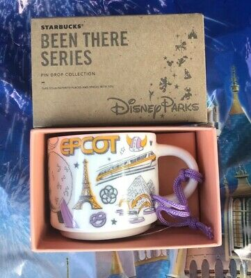 Disney Parks Starbucks Been There Epcot 2019 Coffee Mug Ornament New