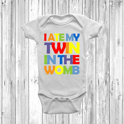 I Ate My Twin In The Womb Baby Grow Vest Bodysuit Short Long Sleeve Funny Gift